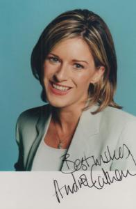 Andrea Catherwood Ulster Irisih Television News Reader Hand Signed Photo