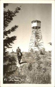 Fire Observation Tower Hogback Mtn. 1947 Wilmington VT Cancel RPPC