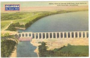 Aerial View of Grand River Dam, near Vinta in Northeastern Oklahoma, 30-40s