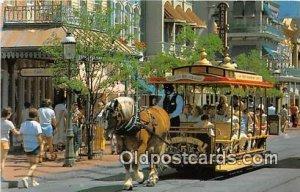 Trolley Ride Down Main Street, USA Walt Disney World, FL, USA 1984