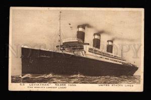 016406 Largest US liner Leviathan Vintage PC