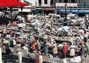 Pointe-a-Pitre , Guadeloupe , 50-70s ; The Market