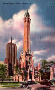 Illinois Chicago Famed Water Tower 1950