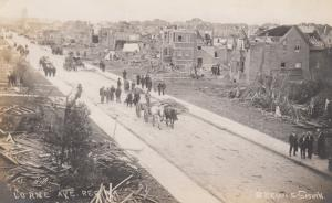 RP: REGINA, Saskatchewan , Canada , 1912; Cyclone Damage, Lorne Avenue