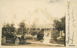 C-1910 McIntosh Minnesota Boys Residence Home Laige Polk County RPPC Autos 8822