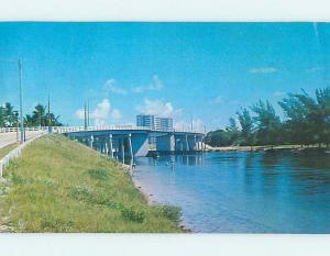 Pre-1980 BRIDGE SCENE Boca Raton Florida FL H8473