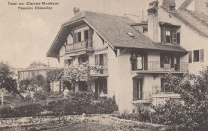 Pension Chevalley Tavel Sur Clarens Montreux French Postcard