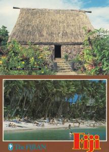 A Fijian Village Coconut Palm House 2x Fiji Postcard s