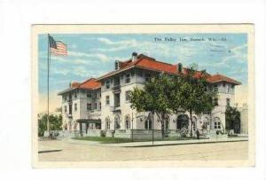 US Flag Waves at Valley Inn, Neenah, Wisconsin, 1936 PU