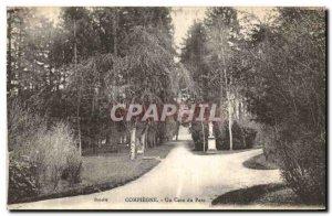Old Postcard Compiegne A Corner Park