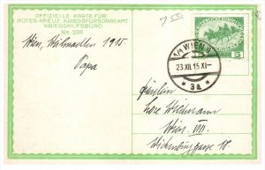 21532 Difficult recovery of a wounded man postmark Wien 1915