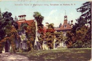 SUNNYSIDE HOME OF WASHINGTON IRVING, TARRYTOWN ON HUDSON, NY 1908