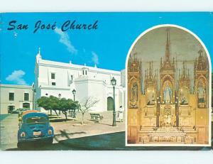 Pre-1980 CHURCH SCENE San Juan Puerto Rico PR L5309