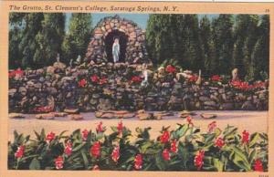 New York Saratoga Springs The Grotto St Clement's College