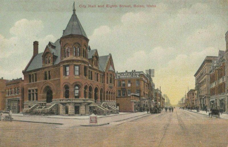 BOISE , Idaho , 1900-10s ; City Hall & Eighth Street