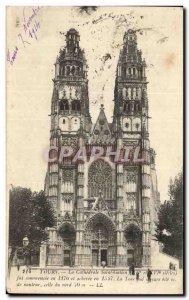 Old Postcard Tours Cathedrale Saint Galen