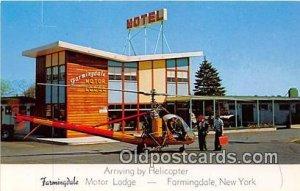 Helicopter, Farmindale Motor Lodge Farmingdale, NY, USA unused