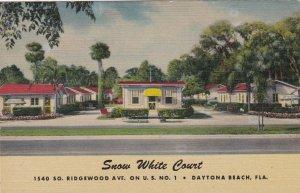 Florida Daytona Beach Snow White Court Curteich sk4915