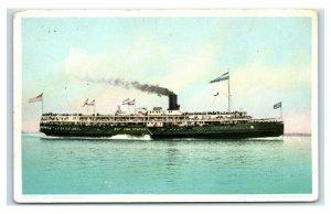 Postcard Steamer Western States U7
