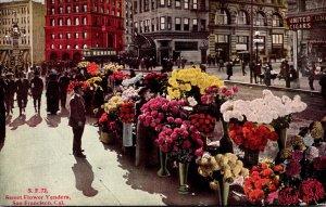 California San Francisco Street Flower Vendors
