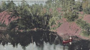 GEORGIAN BAY, Ontario, Canada, 1900-1910s; A Quiet Nook