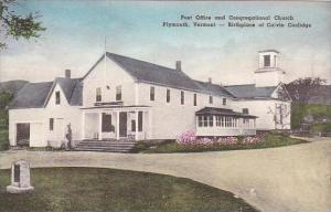 Vermont Plymouth Post Office And Congregational Church  Albertype