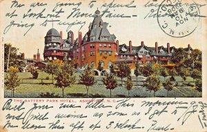 ASHEVILLE NORTH CAROLINA~THE BATTERY  PARK HOTEL~1906 J H LAW PUBL POSTCARD