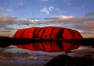 Australia Northern Territory Ayres Rock At Sunset