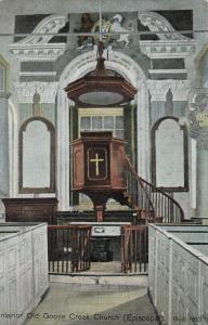 GOOSE CREEK, South Carolina, 1910; Interior Old Goose Creek Church (Episcopal)