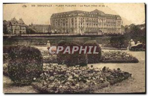 Old Postcard Deauville Beach Fleurie The Royal Hotel and gardens