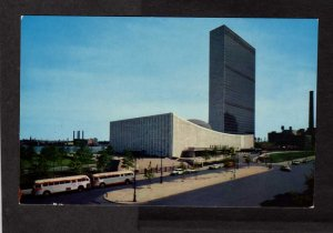 NY United Nations Bldg Buildings New York City Postcard NYC East River