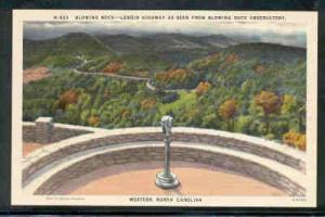 North Carolina colour PC Blowing Rock Lenoir Highway unused