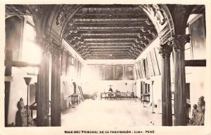 Panama Old Vintage Antique Post Card Sala Del Tribunal de la Inquisicion Lima...