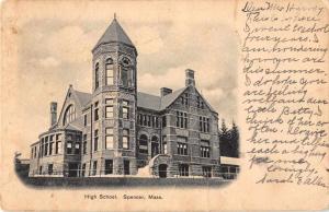 Spencer Massachusetts High School Antique Postcard J51387