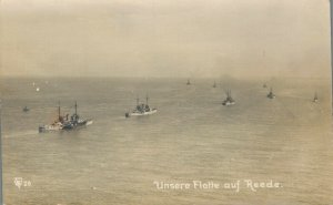 Unsere Flotte auf Rede Real Photo Battle Ships 03.86