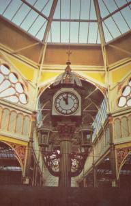 Halifax Market Clock 1970s Postcard