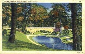 New Arch Bridge, Deering Oaks in Portland, Maine