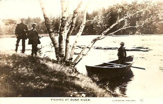 Prince Edward Island ~ Fishing at DUCK POND RPPC Real Photo