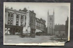 dc1033 - READING England 1910s Market Place. Real Photo Postcard