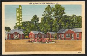 Piney Woods Cottages Thomasville Georgia Unused c1940s