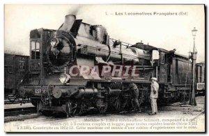 Postcard Old Train Locomotive Machine 3240