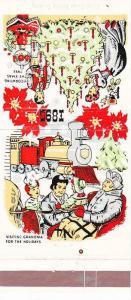 MATCHBOOK ADV: Seasons Greetings, Dutchess Bank & Trust, Christmas Scenes, De...
