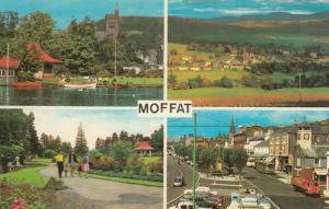 MOFFAT, Scotland, 1940-60s; Boating Pond, Park, High St., View from Beef Tub Rd.