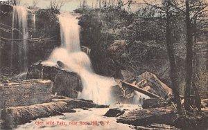Glen Wild Falls Rock Hill, New York Postcard