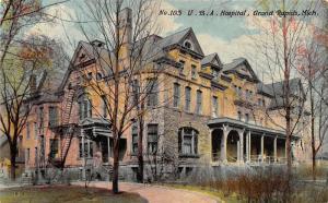 Grand Rapids Michigan~U. B. A. Hospital~Bare Trees~c1910 Postcard
