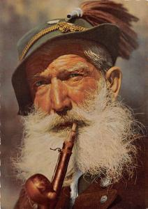 Bergbauer, Old Man with Pipe Garmisch Partenkirchen