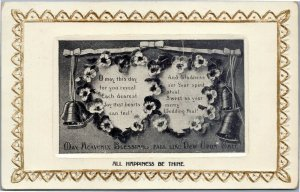 Wedding All Happiness Be thine - May Heavenly Blessings Fall Like Dew Upon Gate