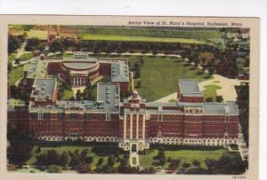 Minnesota Rochester Aerial View Of St Mary's Hospital 1951 Curteich