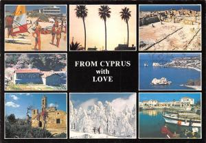 Cyprus multiviews Plage Beach Harbour Boats Port Church Eglise Panorama