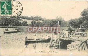 Old Postcard Lourdes Bords du Lac